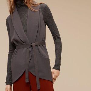 Aritzia Normandie Jacket Vest silk trim
